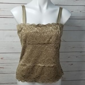 Coldwater Creek Lace Cameo Stretch Tank Top